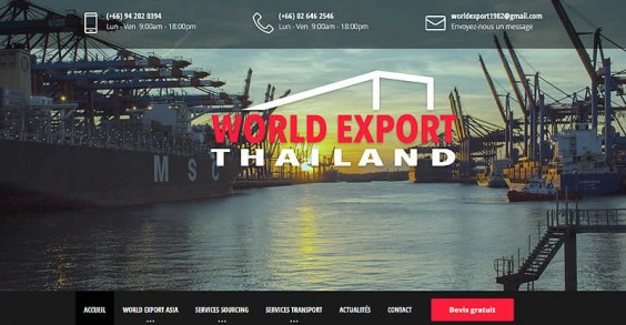 World Export Thailand lance son site internet de sourcing en Asie avec Websamba MC